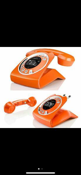 Teléfono inalámbrico retro vintage