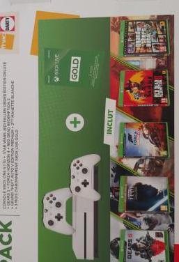 Xbox one s 1 tb sin abrir 5 juegos 1 mando