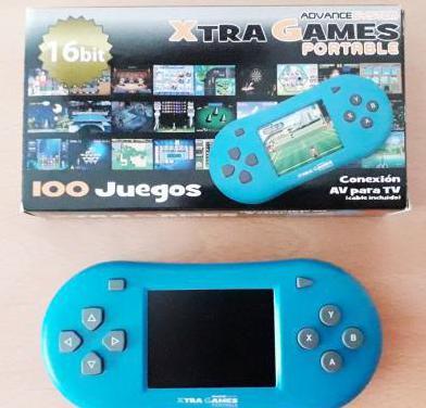 Consola xtra games portable (100 juegos)