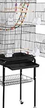 Jaula de pájaros con ruedas