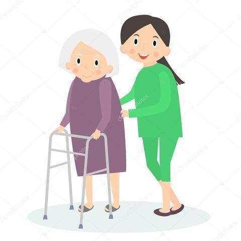 Limpieza y cuidar niños y personas mayores