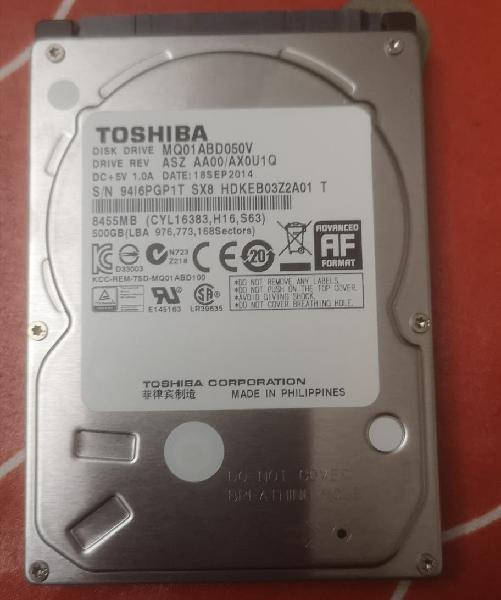 Toshiba 500gb 2.5 sata