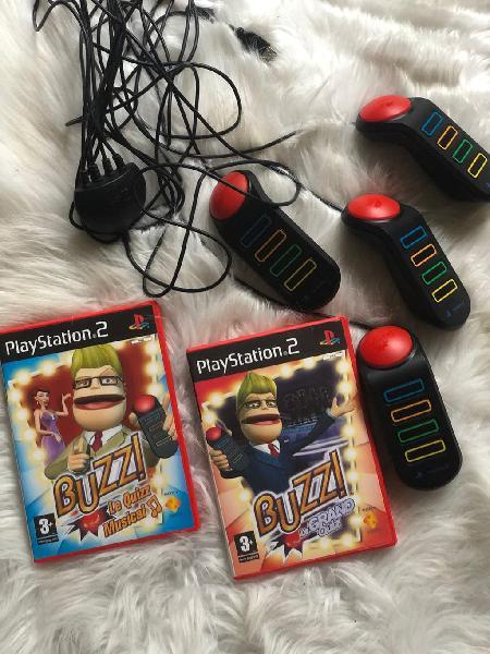 Buzz ps2 mando y 2 juegos