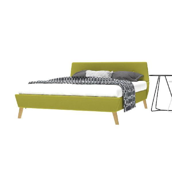 Cama con colchón viscoelástico 140x200 cm tela ver