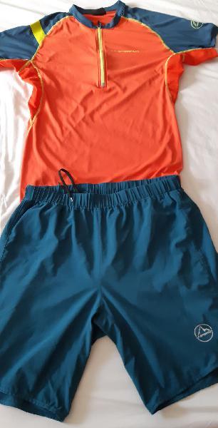 Camiseta y pantalon cortos la sportiva