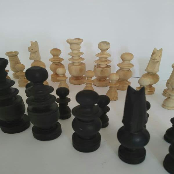 Fichas ajedrez de madera
