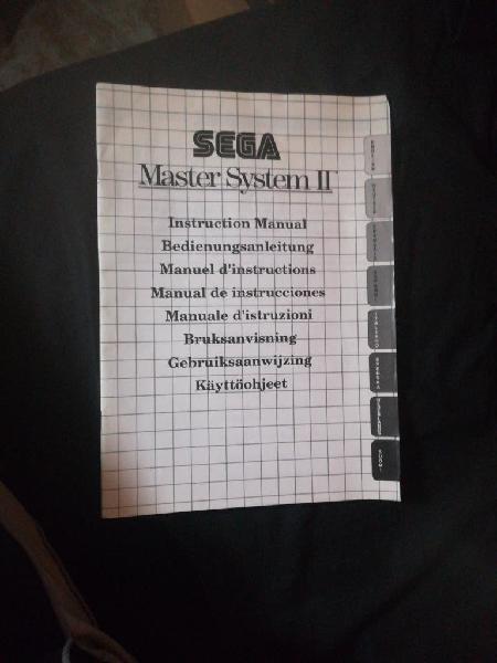 Manual de instrucciones para master system ii