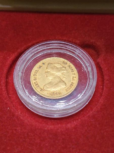 Moneda de oro de 40 reales 1864