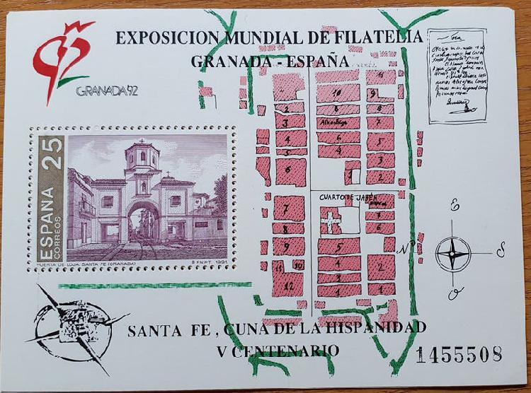 Sellos exposicion mundial de filatelia granada-92