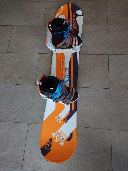 Snowboard y botas