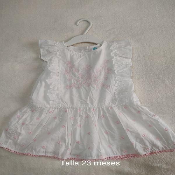 Vestido blanco talla 24 meses