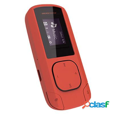 Energy sistem mp3 clip 8gb radio sd coral, original de la marca energy sistem