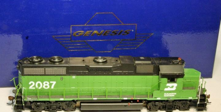 Athearn genesis escala h0 locomotora emd gp38-2. burlington