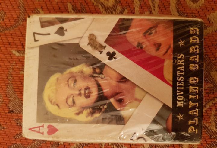 Baraja moviestars. playing cards. nueva. precintada.
