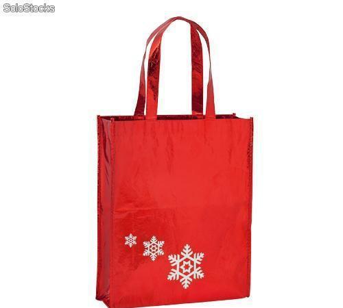Bolsa de navidad satinada non woven