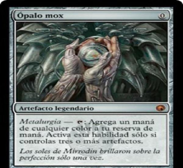Carta mtg magic encuentro gathering ópalo mox español