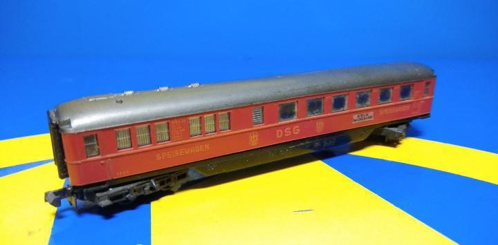 Escala n arnold vagón de pasajeros rojo speisewagen-sin