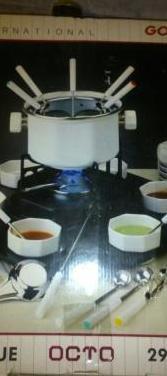 Fondue gourmet octo set de 29 piezas