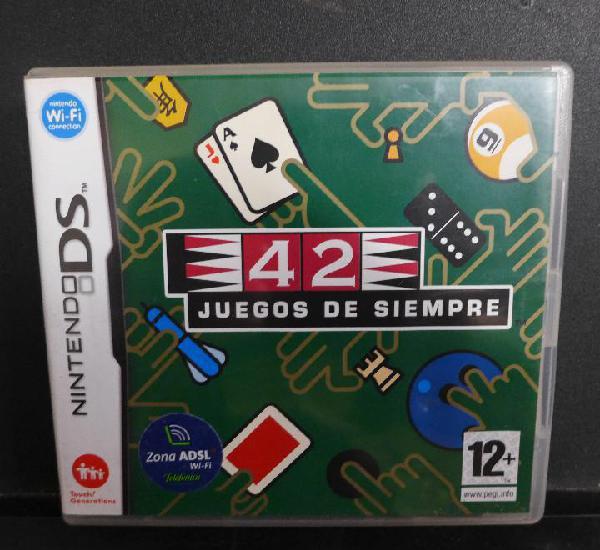 Juego de nintendo ds 42 juegos de siempre completo