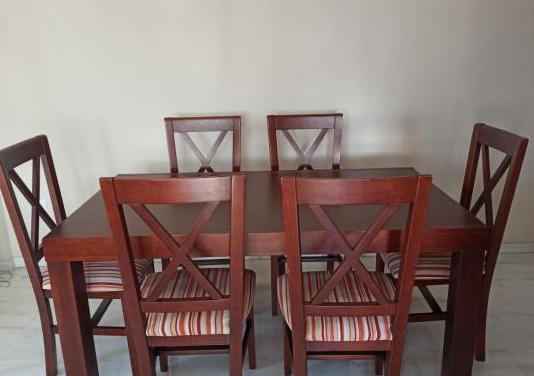 Mesa comedor madera extensible 6 sillas