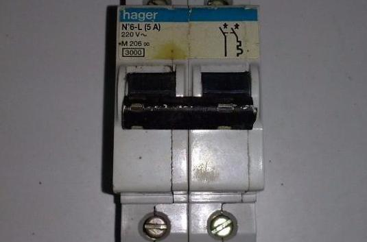 Magnetotermico de dos polos 5a