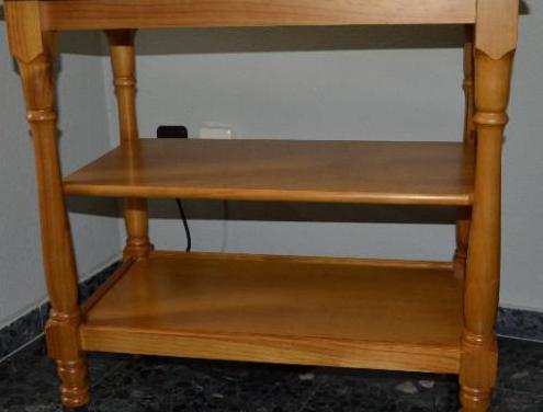 Mueble de madera de pino maciza para tv