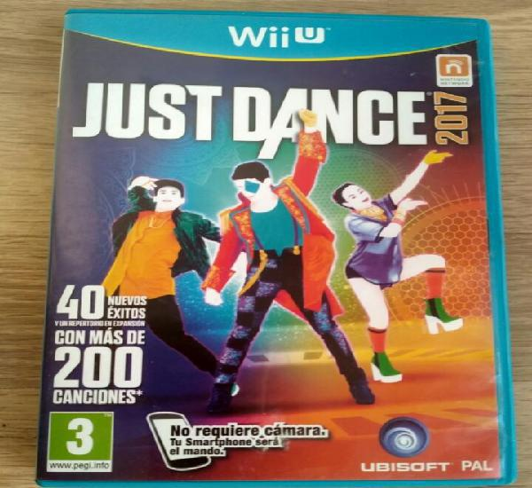 Nintendo wii u juego just dance 2017