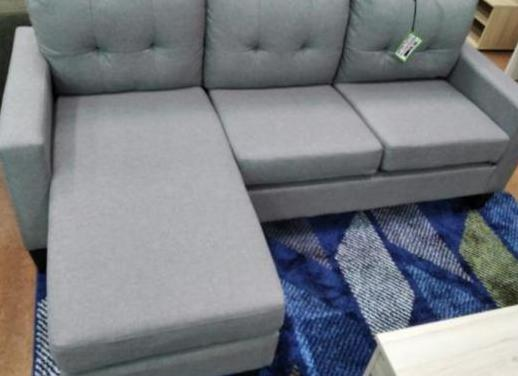 Sofá chaise-longue gris claro [ya -6036]