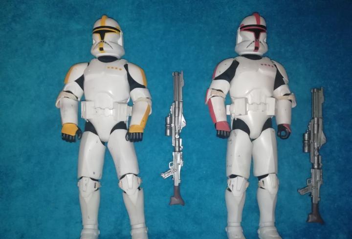 Star wars figuras clone troopers aotc