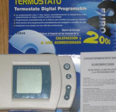 Termostato digital programable