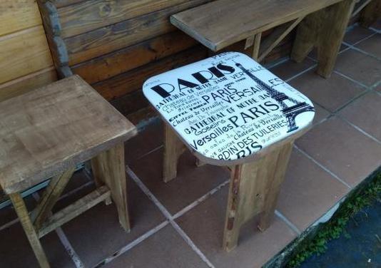 Taburetes de madera personalizados