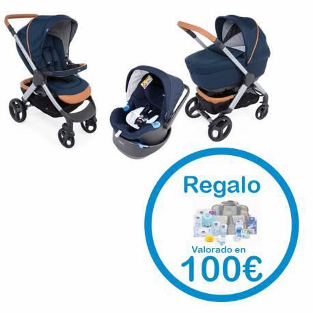Trio Coche Bebe Style Go Up Iconic Blue + Regalo Canastilla