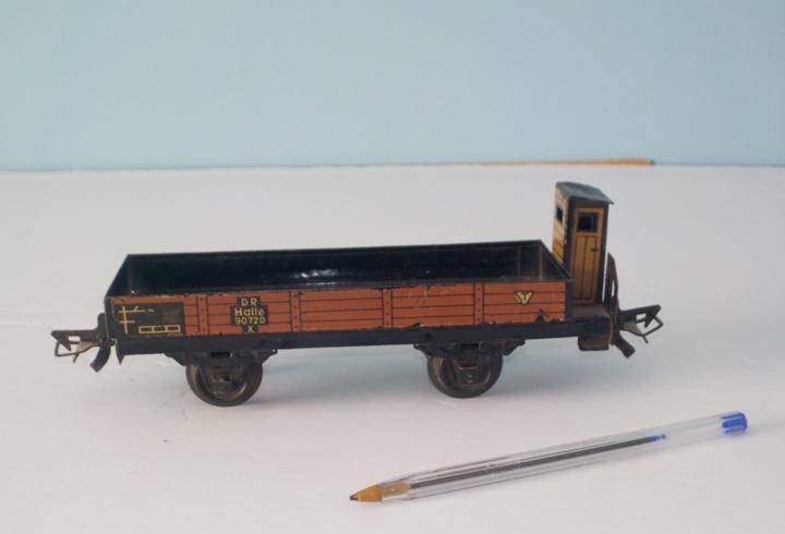 Vagon, tren escala 0, zeuke bahnen, tren de chapa años 1940