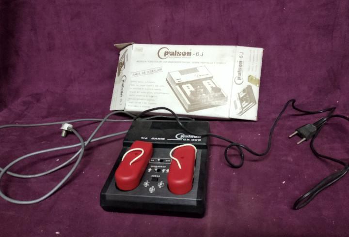 Video consola vintage, tipo pong, palson cx 303, con dos