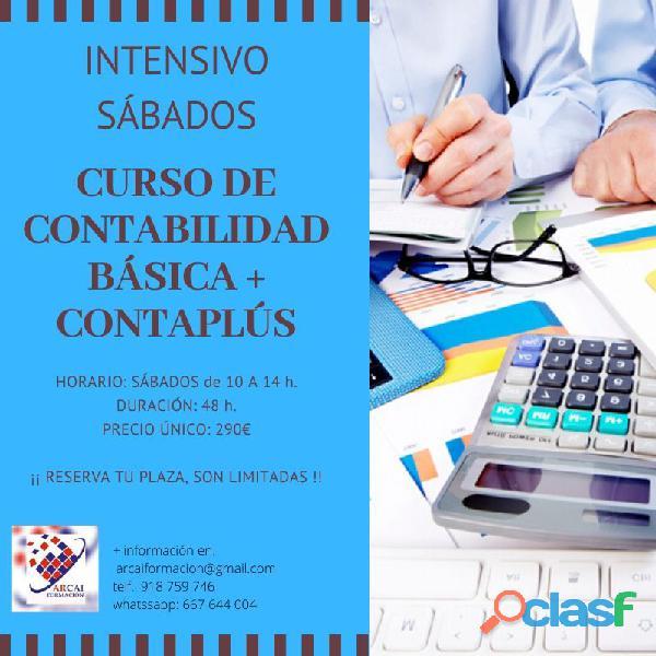 Curso intensivo sábados contabilidad + contaplús