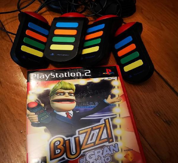 Juego ps2 mandos pulsadores buzz el gran reto