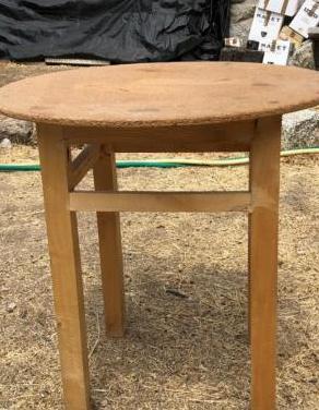Mesa camilla de 50 cms diametro