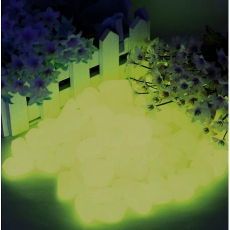 40 piedras amarillo fluorescentes en la oscuridad