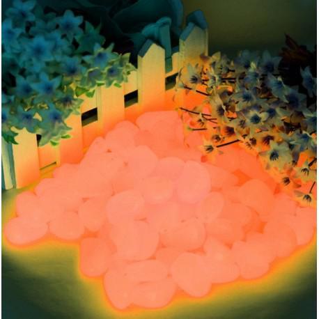 40 piedras naranja fluorescentes en la oscuridad