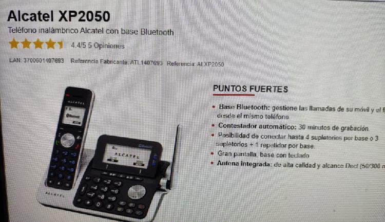 Alcatel xp2050 telefono inhalambrico y bluetooth