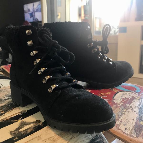 Borcegos abrigo nieve y botas abrigo con taco