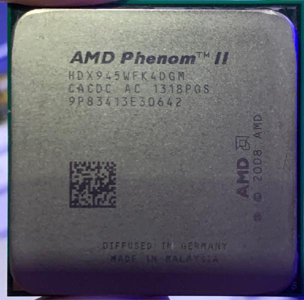 Cpu amd phenom ii x4 945 hdx945wfk4dgm