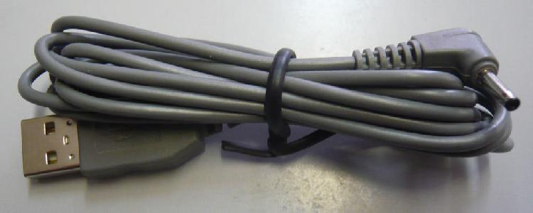 Cable cargador usb 2.0 a conector cilindro fino