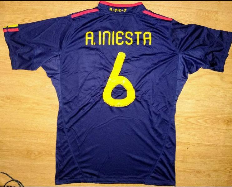 Camiseta iniesta españa mundial 2010 adidas