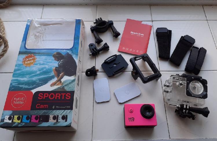 Cámara deportiva con accesorios sports cam