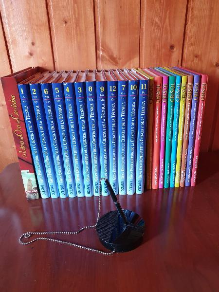 Enciclopedia ciencia decoración libros