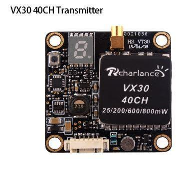 Fpv conmutable transmisor vx30 5,8g 40ch drone