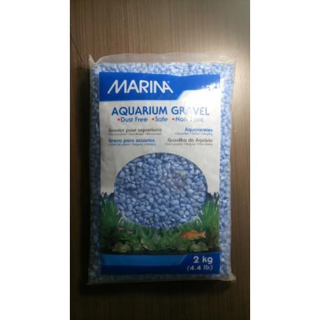 Grava color azul claro 2 kg