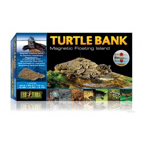 Isla flotante para tortuga grande