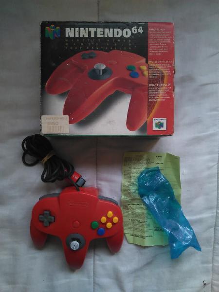 Mando rojo con caja n64